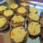 Mushrooms Stuffed with Fromage Blanc and Leeks
