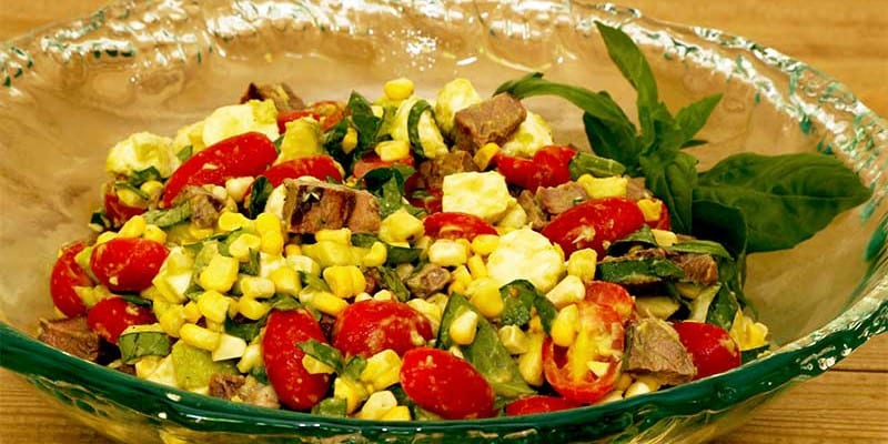 Mozzarella, Tomato And Steak Salad