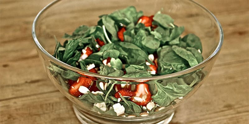 Strawberry, Feta & Spinach Salad