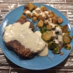 Pork Steak with Cheese Sauce