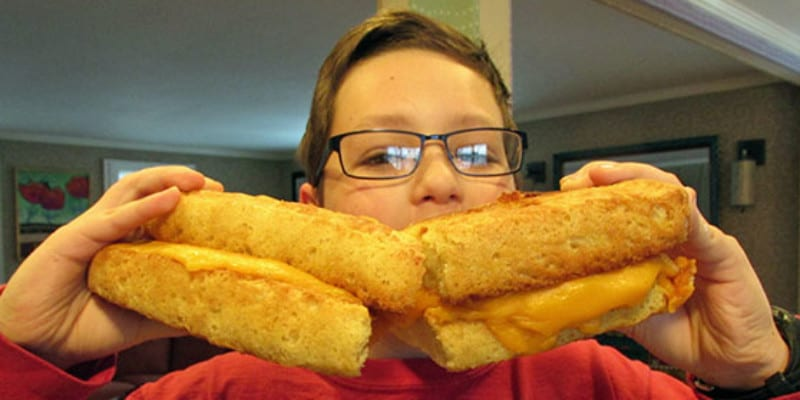 How to Make a HUGE Grilled Cheese Sandwich!