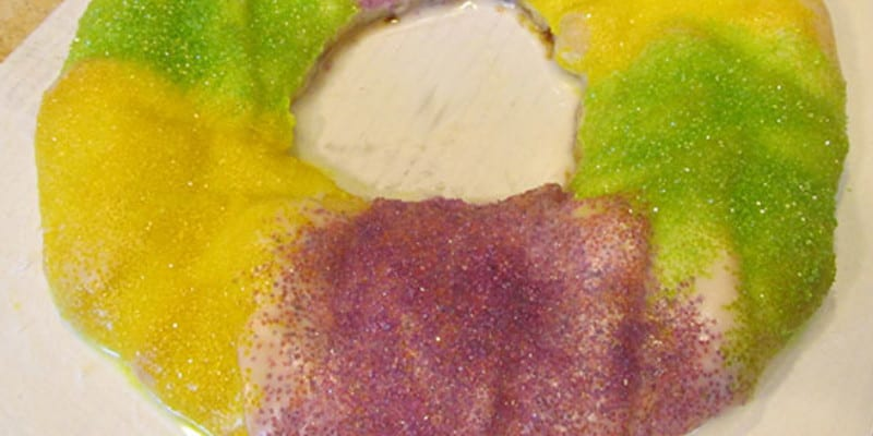 King Cake with Soft Cheese Filling